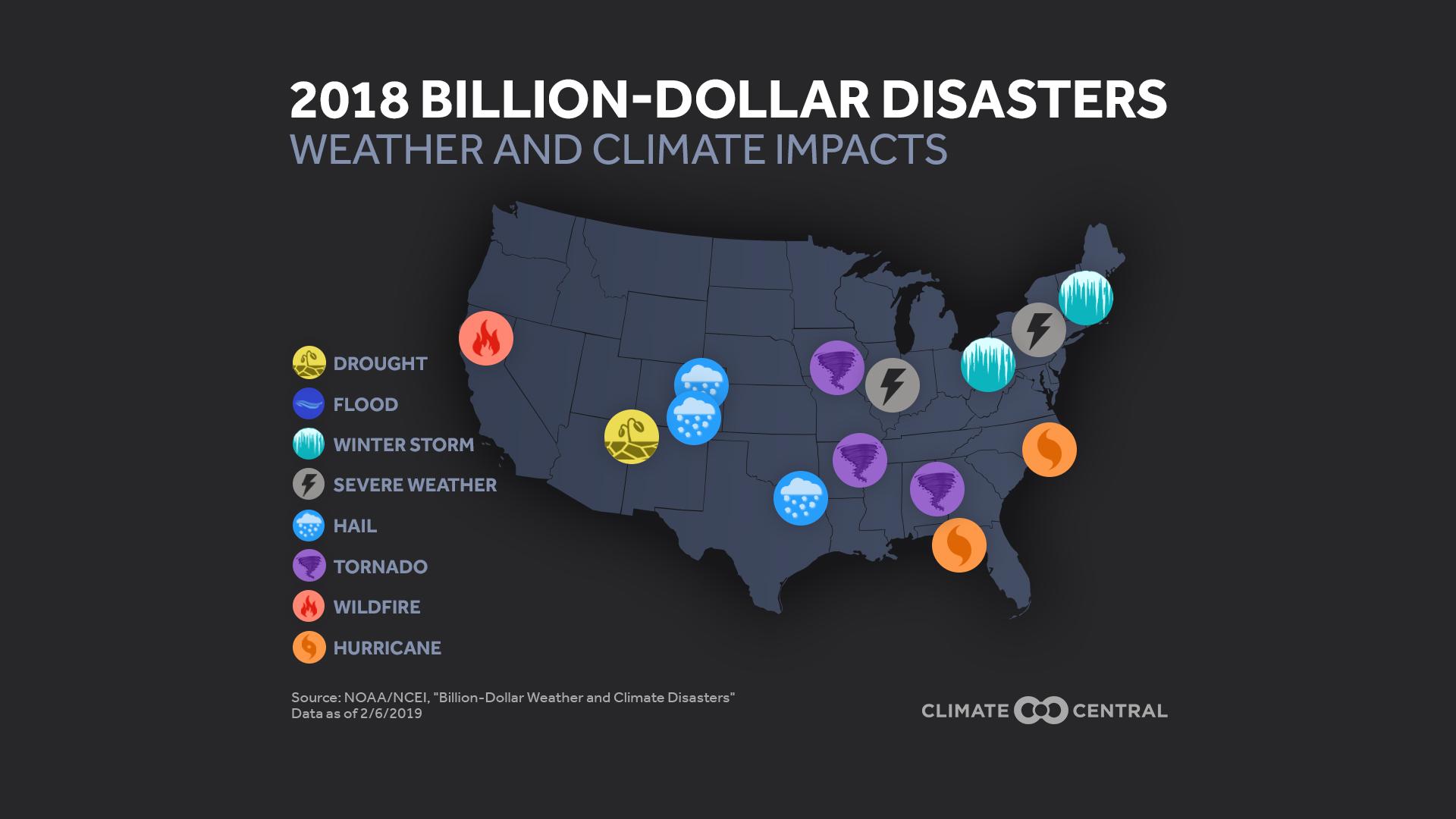 billion-dollar disasters - map